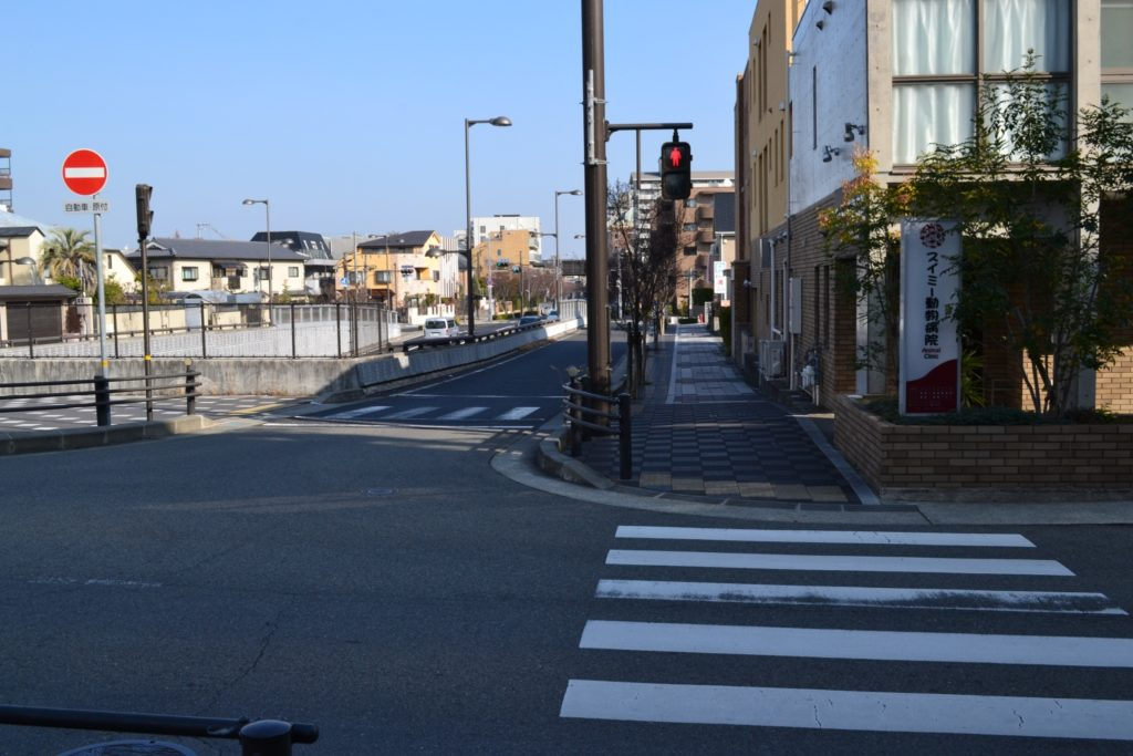 阪急芦屋川からの道順7