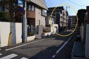 阪急芦屋川からの道順10